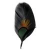 Hat Trim Goose/peacock Plumage 10cm Green/black/nat